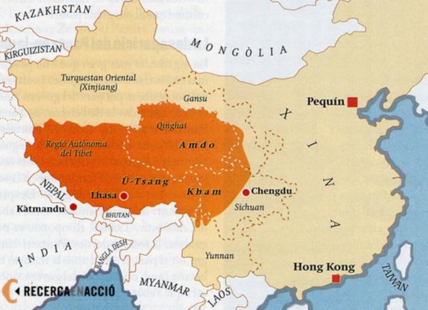 Mapa Tibetu