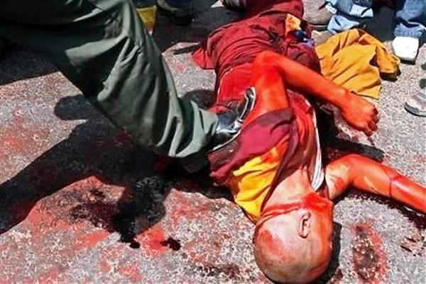 Tibet - demonstrace