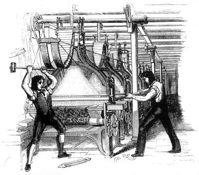 V 19. století rozbíjeli dělníci stroje, protože se obávali, že je připraví o práci.
